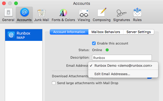 IMAP for Apple Mail | Runbox Help