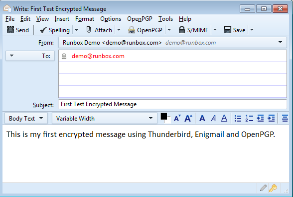Using Thunderbird and Enigmail | Runbox Help