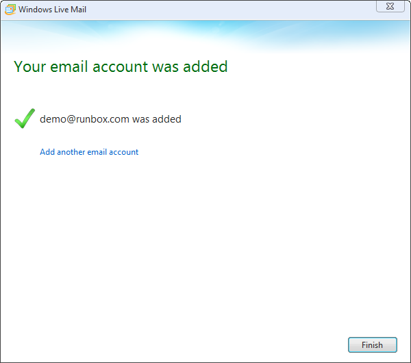 IMAP for Windows Live Mail 2012 | Runbox Help