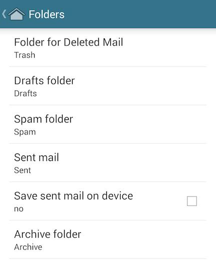 MailDroid Set Up Guide (IMAP) | Runbox Help